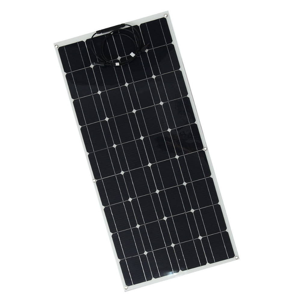 semi flexible Solar panel 100 Watt Monocrystalline Photovoltaic plate 100 W 100w cell kit for 12V