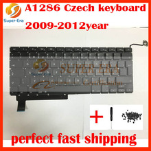 5pcs/lot new original for macbook pro 15inch Czech keyboard A1286 czech clavier without backlight backlit 2009-2012year