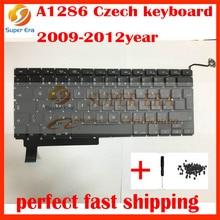 5pcs/lot new original for macbook pro 15inch Czech keyboard A1286 czech clavier without backlight backlit 2009-2012year