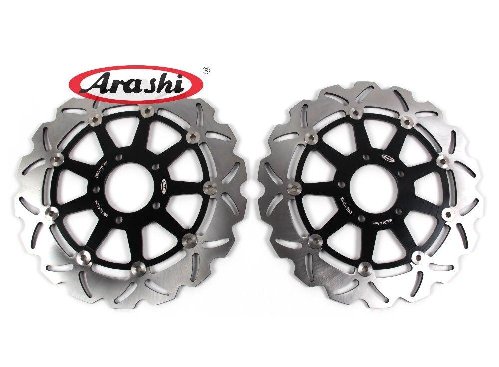 Араши 2 шт. для Suzuki GSX R 750 gsx750 R 1996 1997 1998 1999 2000 2001 2002 2003 ЧПУ спереди тормозные диски, тормозные диски Запчасти