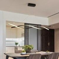 Матовый черный или серый минималистичный современный светодиодный подвесной светильник для гостиной столовой кухни для комнаты, Подвесна...