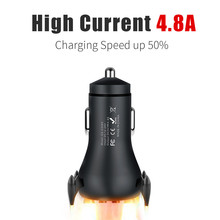 A S LED USB Car Charger for Phone 4 8A Dual USB Fast Charger for iPhone X 8 Huawei Phone Car-Charger Adapter USB Charger cheap MEIZU Xiaomi Nokia Sony Motorola Blackberry Other Samsung Lenovo APPLE Universal RoHS Car Lighter Slot 12-24V 2 4A 4 8A Fast USB Car Charger