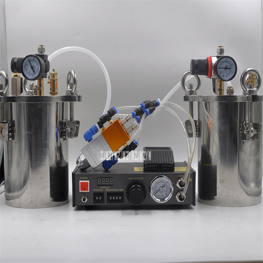 New MY-2000 Glue Dispenser Equipment Accurate Automatic Glue Dispensing Machine With 1L Pressure Tank+Dispensing Valve+Dispenser automatic dispenser stainless steel pressure tank thimble style double liquid dispensing valve free shipping fedex or ups