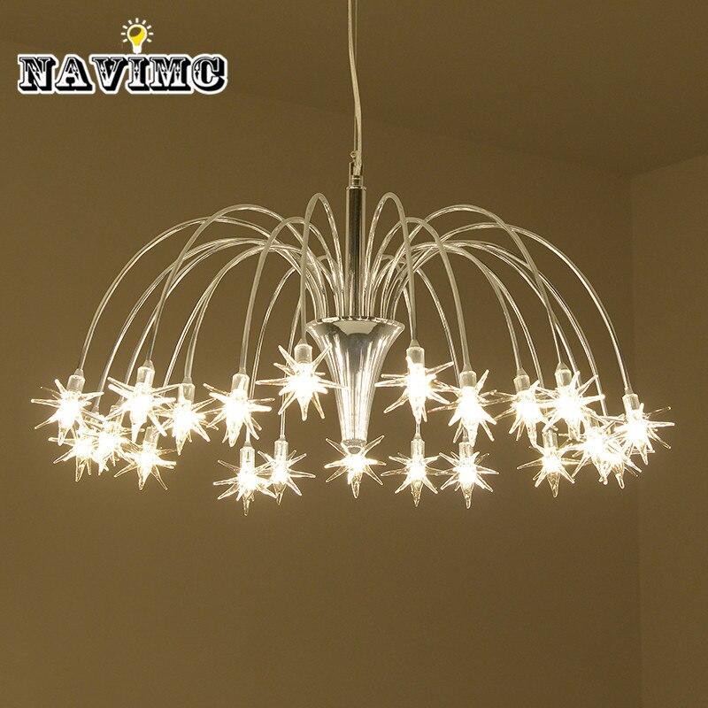 Nordic метеорный поток люстра освещение творческая личность светодиодный подвесной светильник для гостиной Обеденная подвесной светильник