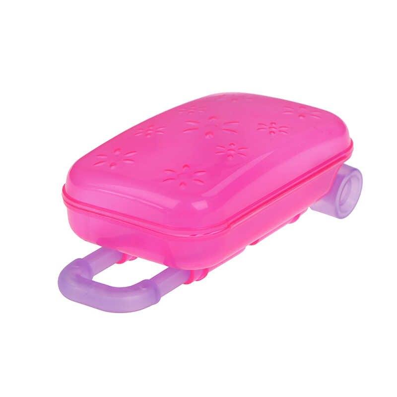 Унисекс кукла багажник багажная коробка прозрачный Дорожный чемодан для высокого качества 18 дюймов Кукла Детская игрушка день рождения девочка игрушка детский подарок