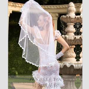 Image 4 - See Through Full Outfit Sexy Bride Wedding Dress Costume   Fancy Women Bridal Dress White Bride Cosplay Erotic Costume White