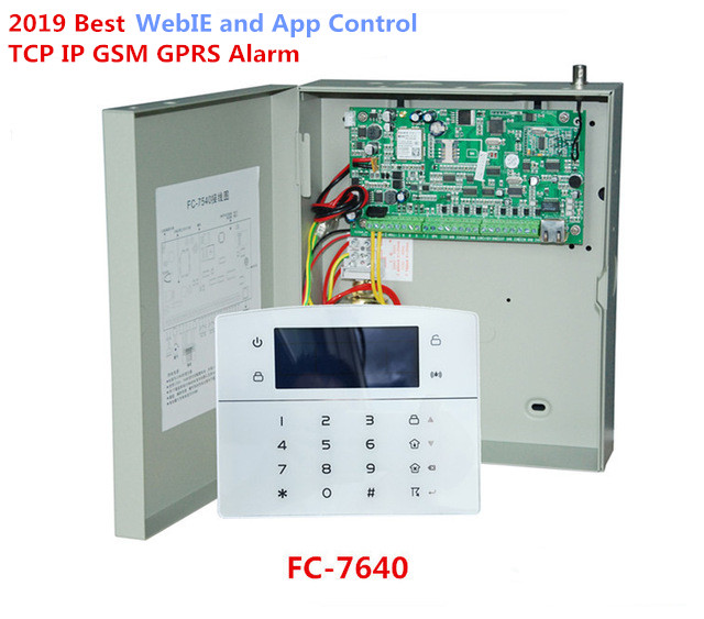 Industrial RJ45 Ethernet IP Alarm System 8 Wired Zones 32 Wireless Zones TCP/IP GSM Alarm Home Alarm For Family Security