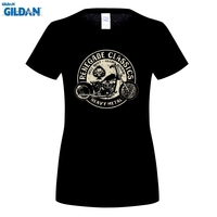 GILDAN Vintage Glory Bounds Harley USA T Shirt Heavy Metal Women T Shirt O Neck Moto