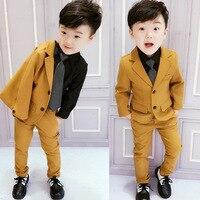 2018 Autumn Winter New Korean version of the children's suit two gentleman handsome woolen suit