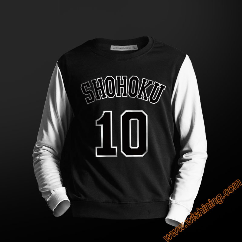 High Quality Slam Dunk Shohoku Hoodie Blue Red Sweatshirt For Men Boys