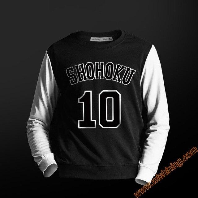 0ead5a3db07 High Quality Slam Dunk Shohoku Hoodie Blue Red Sweatshirt For Men Boys