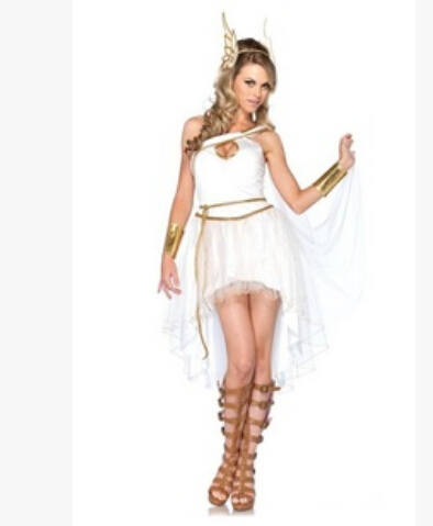 Free Shipping The New Vienna Greek Goddess Of White Fairy Costumes