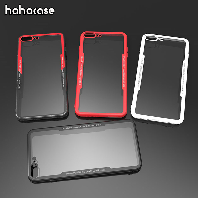 50pcs Clear Acrylic Back Soft TPU Frame Anti shock Case For iPhone XS Max XR X