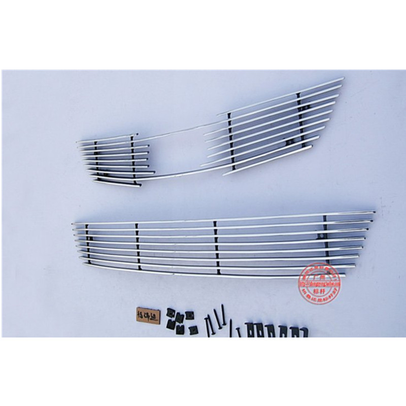 High quality stainless steel Front Grille Around Trim Racing Grills Trim For 2009-2012 KIA Cerato/Forte abs chrome front grille around trim racing grills trim for kia cerato k3 2013