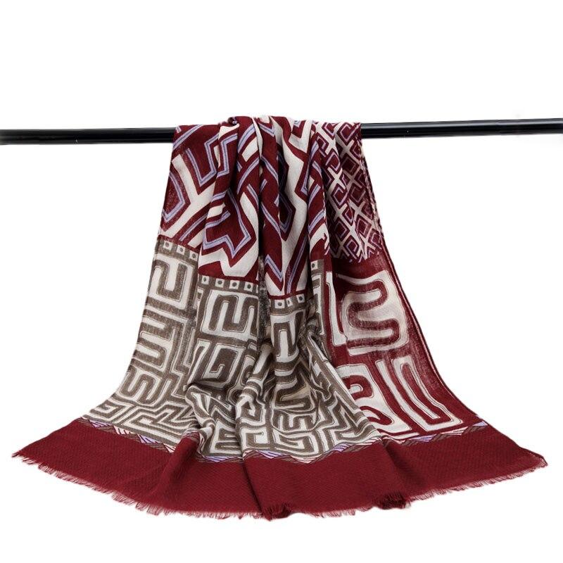 Autumn Winter Scarf font b Tartan b font Scarves Women Plaid Scarf Cotton Pashmina Long Shawls