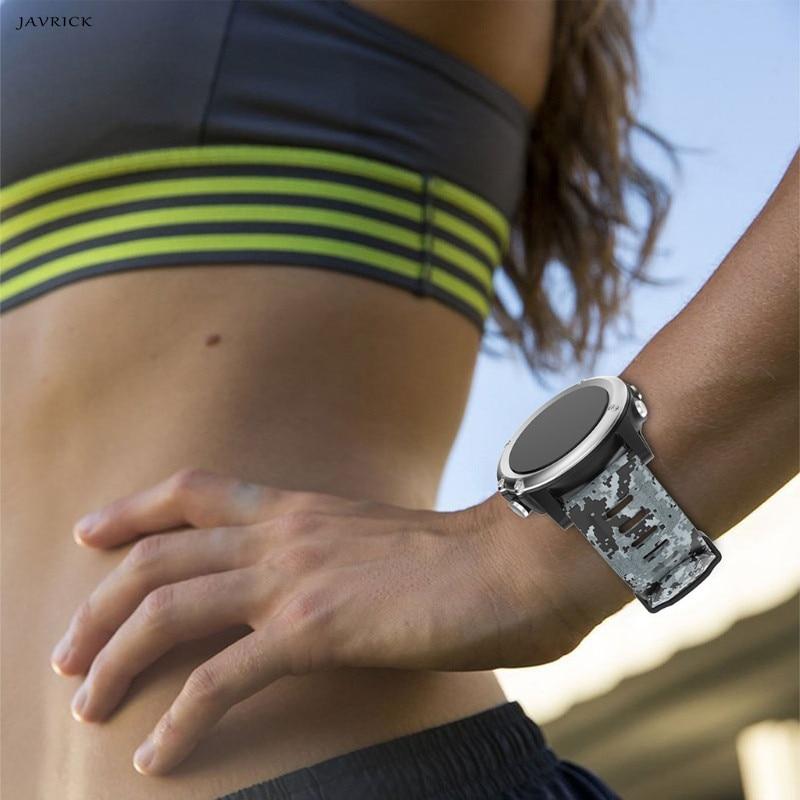 JAVRICK Replacement Watch Band Universal Strap Printing Silicone Strap For Garmin Fenix 3 Fenix 3 HR Fenix 5x for garmin fenix 3 watch band universal stainless steel watch band strap bracelet for fenix 3 fenix 3 hr smart watch