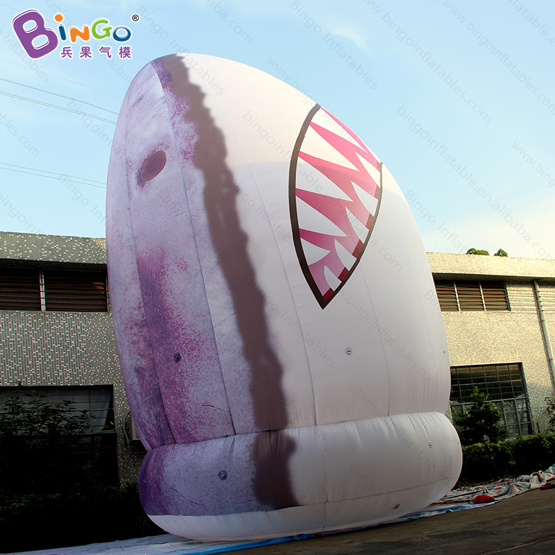 Customized 8 Meters giant inflatable shark head high quality digital printed blow up shark replica for decoration toys inflatable cartoon customized advertising giant christmas inflatable santa claus for christmas outdoor decoration