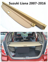 Car Rear Trunk Security Shield Cargo Cover For Suzuki Liana 2007 2016 High Qualit Black Beige Auto Accessories