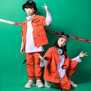 Image 2 - Kids Hip Hop Clothing Girls Boys Sweatshirt Jogger Pants Jazz Dance Costumes Set Ballroom Dancing Clothes Outfits Boys Coats