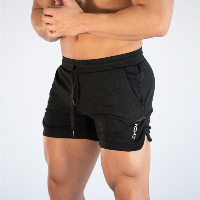 Fashion Men Fitted Solid Shorts Bodybuilding Workout New Running Sheath Shorts Male Casual Cotton Blend Tight Short Trousers