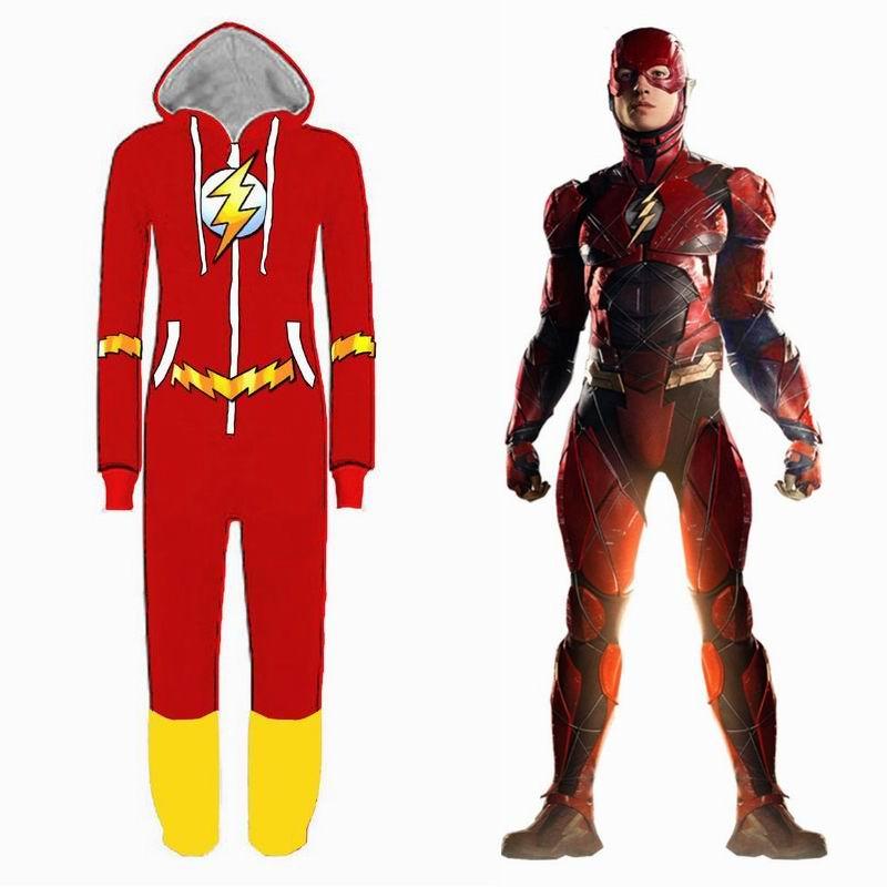 Ligue des Justiciers Cosplay Costumes Combinaison Adulte Pyjamas Unisexe Super-Héros Flash Cosplay Vêtements De Nuit Deadpool Batman Pyjama