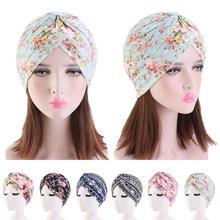 Índia muçulmano plissado flor feminino câncer chapéu de quimio cabeça de perda de cabelo cachecol turbante cabeça envoltório gorro capa bonnet moda