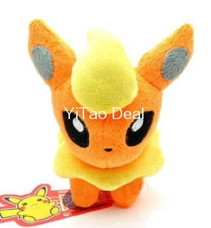 Buy one get one free !!! 6-inch Flareon Plush Doll Toy Around 12cm image