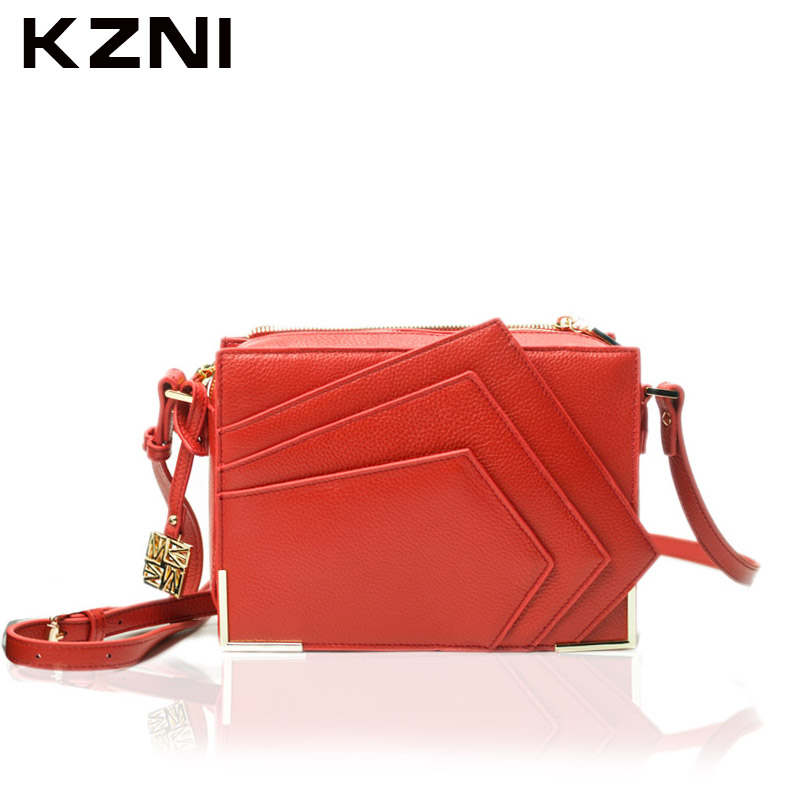 KZNI Genuine Leather Purse Crossbody Shoulder Women Bag Clutch Female Handbags Sac a Main Femme De Marque 1362 kzni genuine leather purse crossbody shoulder women bag clutch female handbags sac a main femme de marque z031819