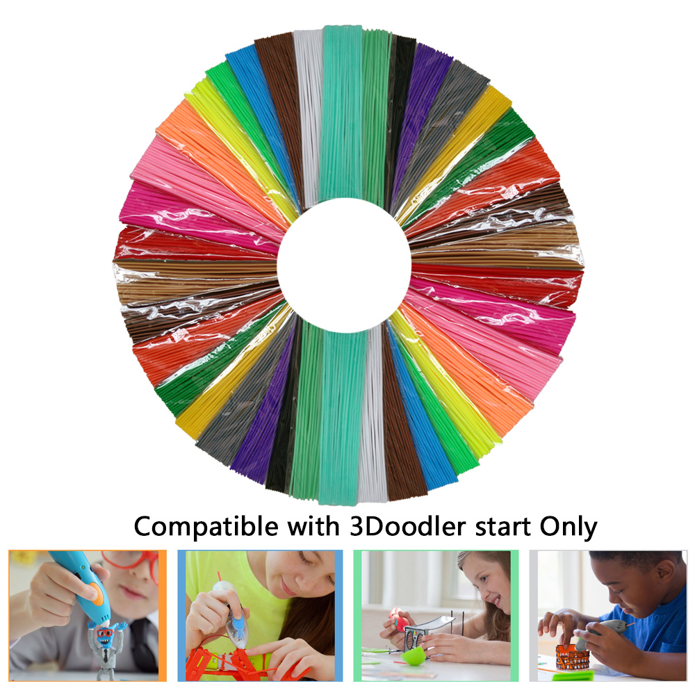 Hot sales Low temp Compatible with 3Doodler start Pen Straight PCL 3D Filament 3.6M*6 or 10 or 18 Colors Different packages OPT лопата truper pcl pe 31174