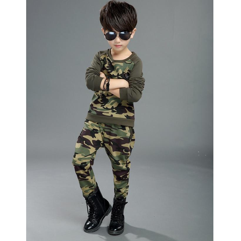 Kids Clothes Boys Children Outfits Tracksuit Ensemble Garcon Ete T Shirts Pants Camouflage Kids Sport Suit