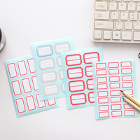 4 sheets Label White Self-Adhesive Label Stickers Single Size Laboratory Label / Library Category Sticker [category]