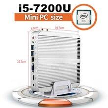 Kaby Lake Core i5 7200U Мини-ПК i3 7100U мини настольных ПК I3 I5 Micro PC 4 К HTPC Intel HD графика 620 неттоп HDMI + VGA Окна 10