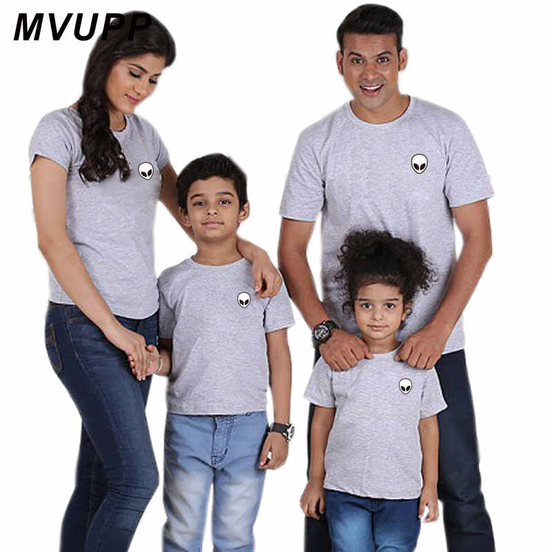 d77a9513 ... Summer family matching outfits mommy and me father mother daughter son baby  girl tshirt look white ...