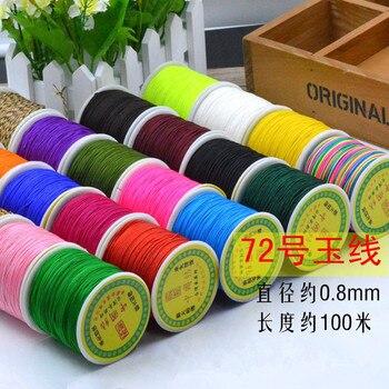 45b3f5f73bfd 33 colores 100 yardas cuerda de Nylon plástico carrete Correa hilo Macrame  pulsera trenzada cuerda DIY