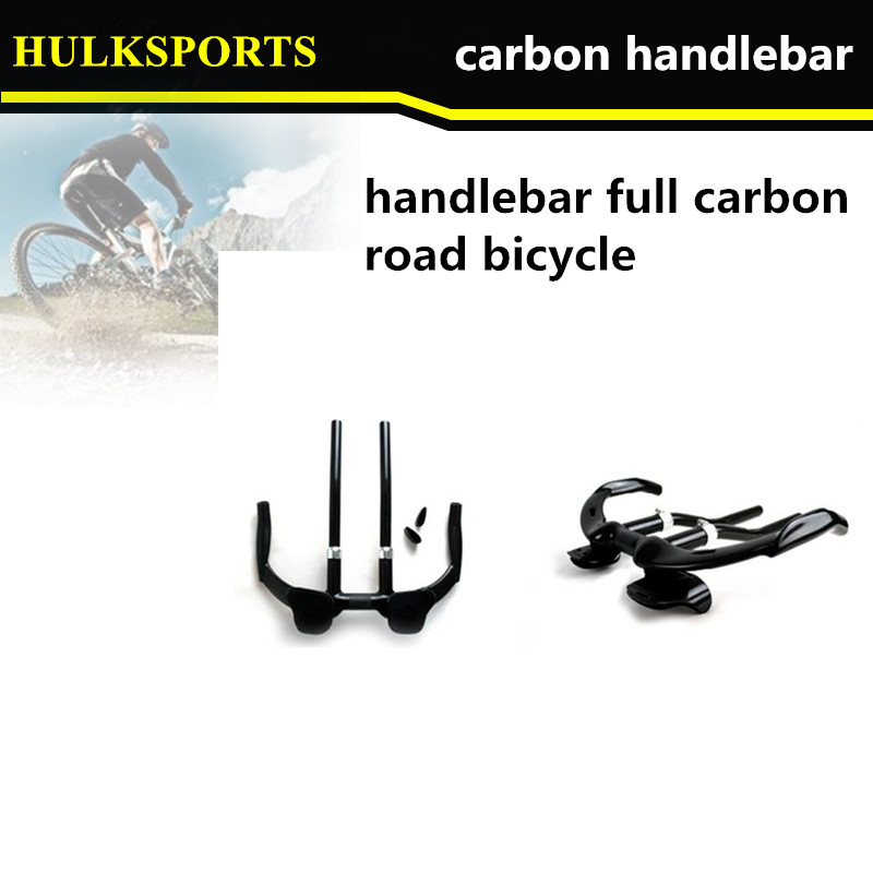 HK-CHB-01 2015 version carbon Time trail handlebar carbon road bicycle  handlebar  TT bike 400mm carbon handlebar with rest pads