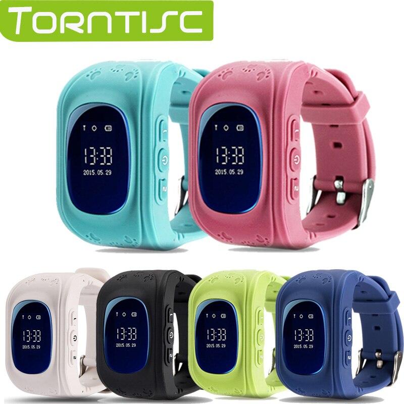 imágenes para Torntisc q50 kid safe gps smart watch localizador rastreador anti perdió la tarjeta micro sim soporte monitor precioso reloj de pulsera para niños
