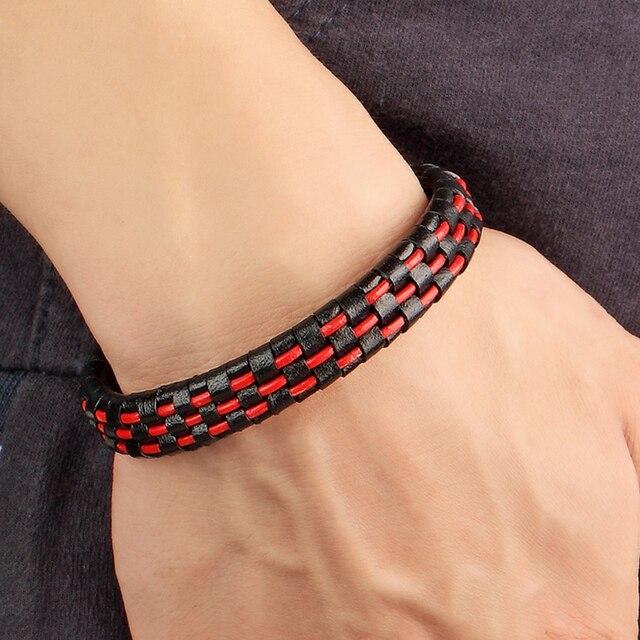 2018 новые мужские ювелирные изделия черный плетеный geunine