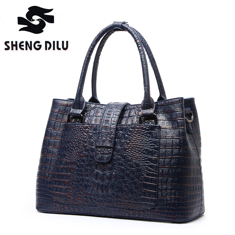 SHENGDILU Designer Genuine Leather Bags Ladies Famous Brand Women Handbags High Quality Tote Bag for Women Fashion Hobos Bolsos real genuine leather women s handbags luxury handbags women bags designer famous brands tote bag high quality ladies hand bags