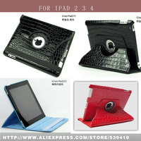 Luxury Crocodile Pattern 360 Degrees Rotating Defender Cover Case For Apple IPad 2 3 4 Colored