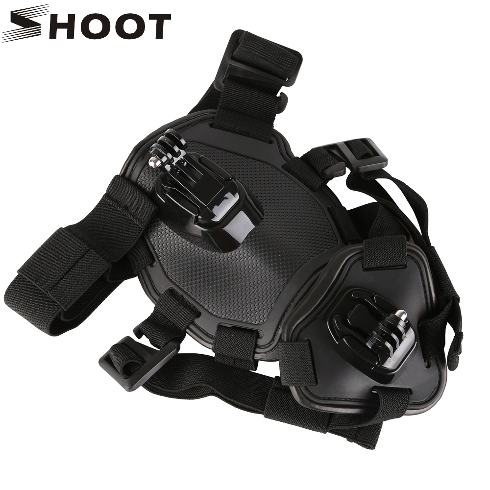 SHOOT Adjustable Outdoor Pet Vest Harness Chest Strap for GoPro Hero 5 6 4 Session SJCAM Yi 4K H9 Action Camera Go Pro Accessory