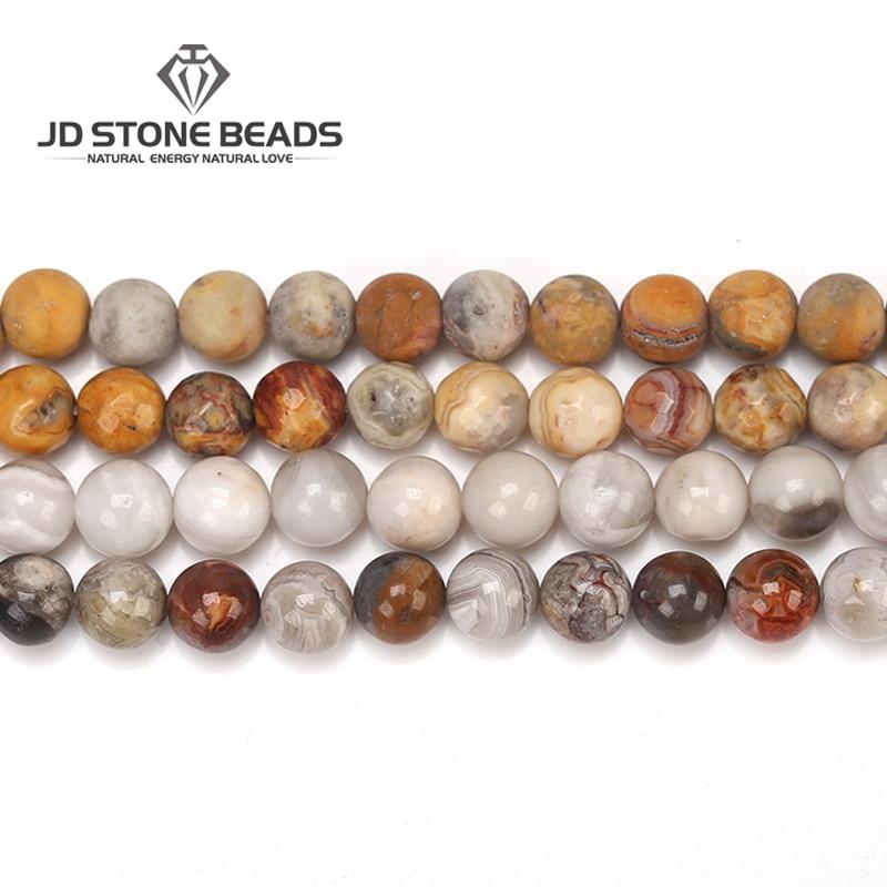 3 Farben Natürliche Crazy Achat Perlen Matte Achat Runde Stein Perlen Schneiden Edelstein Stein Perlen Für Schmuck Machen Letzter Stil