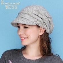 Charles Perra Women Beret NEW 2019 Wool Hat Cap Autumn Winter Thicken Warm Casual Fashion Hats Elegant Berets 5257