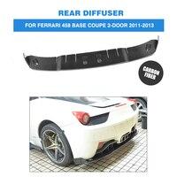 Carbon Achterbumper Uitlaat Diffuser Lip voor Ferrari 458 Base Coupe 2-Door 2011-2013 Auto Styling