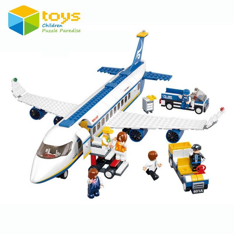 Blocs de construction assemblés Avion Airbus avion L'aéroport Modèle jouets jeux éducatifs pour enfants enfants Poupée rotatif Cadeau