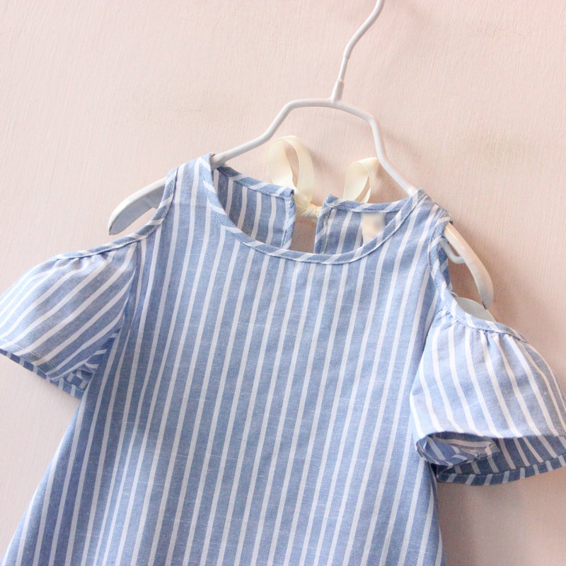 Hurave-Casual-Baby-Girl-Clothes-Summer-Dress-2017-Fashion-Girls-Cotton-Striped-Dresses-Children-Clothes-Girl-Vestidos-Robe-Fille-2