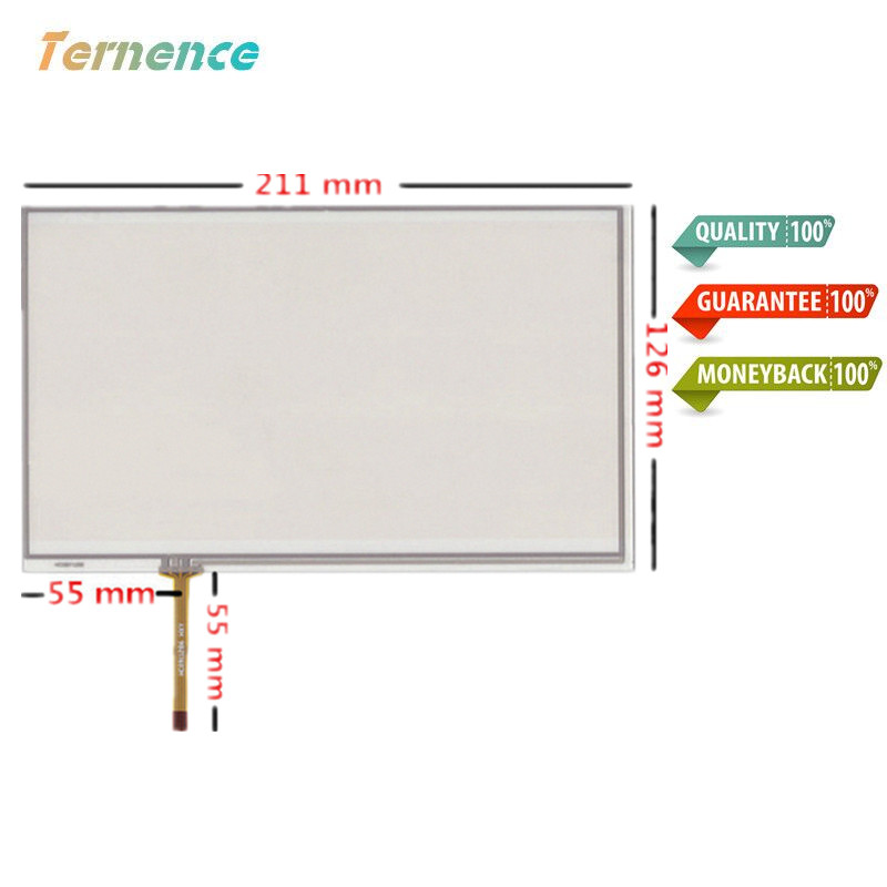 Skylarpu 2 pcs New 9 inch 210mm*125mm touch panel digitizer For Industrial equipment touch screen tablet PC LCD touch screen