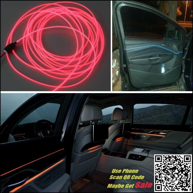 Pour FIAT Albea Bravo éclairage intérieur du panneau de lumière ambiante pour voiture intérieur Tuning bande de lumière à Fiber optique