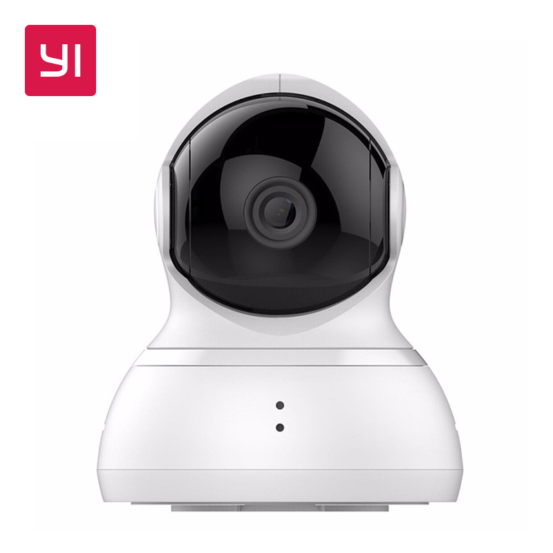 YI Dome Camera 720p Pan/Tilt/Zoom Wireless IP Security Surveillance System HD Night Vision (US / EU Edition) White Baby Monitor fenlu fl 036 women s creative cross shaped zinc alloy ring golden u s size 5 5
