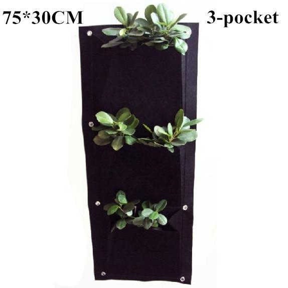 Κάθετη τοίχο από πολυεστέρα τοίχο φύτευση τσάντα λουλούδι αυξάνεται τσάντα Ζώντας εσωτερική τοίχο τσάντες φυτευτή κήπου30 * 75cm 400g / m2
