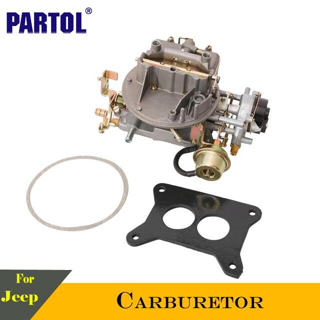US $141 16 |Partol 2 Barrel Car Carburetor Carb Engine 300 CFM 2100 A800  For Jeep Wagoneer Ford Comet Mustang F100 F250 F350 1964 1973 78-in